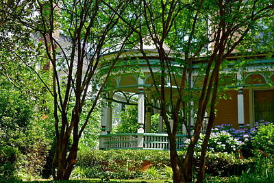 Photograph - Awesome Victorian Porch by Denise Mazzocco