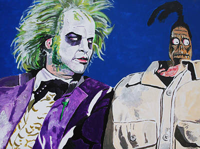 Beetlejuice Painting - Awkward by Jeremy Moore