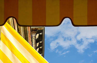 Photograph - Awnings And Sky by Phil Cardamone
