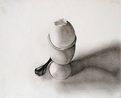 Drawing - Awww My Egg by Teri Schuster