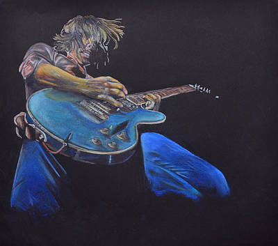 Acoustic Guitar Drawing - Axe To Grind. by Breyhs Swan