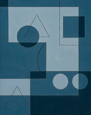 Geometric Painting - Axiom by Peter Hugo McClure