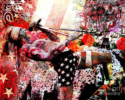 Mixed-media Painting - Axl Rose Original by Ryan Rock Artist