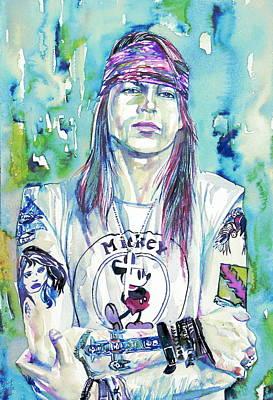 Axl Rose Portrait.1 Art Print by Fabrizio Cassetta