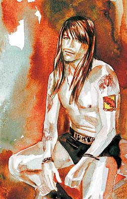 Axl Painting - Axl Rose Portrait.4 by Fabrizio Cassetta