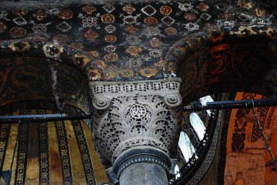 Photograph - Aya Sofia - Column Detail by Jacqueline M Lewis