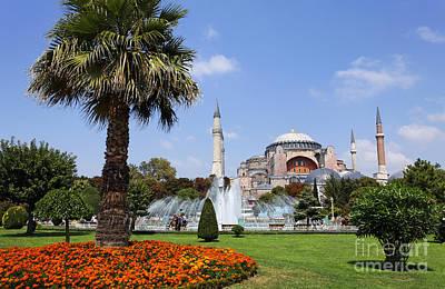 Aya Sofya And Gardens Istanbul Art Print by Robert Preston
