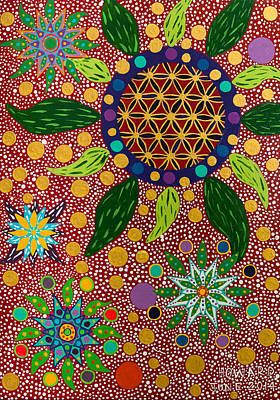 Painting - Ayahuasca Vision - The Opening Of The Heart by Howard G Charing