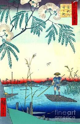 Ando Hiroshige Photograph - Ayase River 1857 by Padre Art