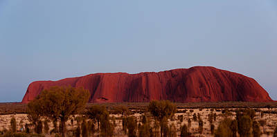 Uluru Photograph - Ayers Rock At Dusk, Northern Territory by Panoramic Images