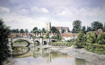 Aylesford Bridge Art Print by Rosemary Colyer
