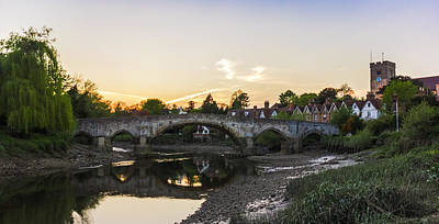Willow Tree Photograph - Aylesford Sunset by Ian Hufton