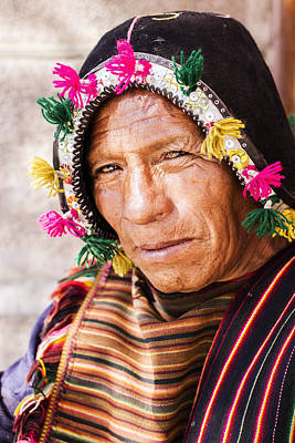 Photograph - Aymara Man Portraits by For Ninety One Days