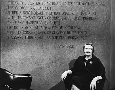 Ayn Rand Wall Art - Photograph - Ayn Rand by Raimondo Borea