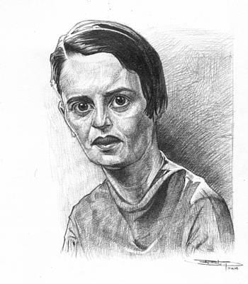 Ayn Rand Wall Art - Drawing - Ayn Rand by Sri Priyatham