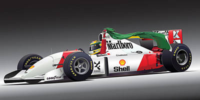 Williams Digital Art - Ayrton Senna Da Silva Art by Alain Jamar