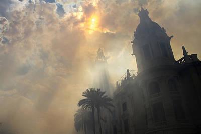 Photograph - Ayuntamiento Valencia After Mascleta by For Ninety One Days