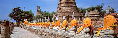 Contemplative Photograph - Ayutthaya Thailand by Panoramic Images