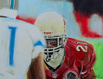 Painting - Az Cardinals Patrick Peterson by Timothy Michaels Flores