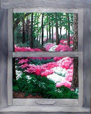 Azalea Bowl Overlook Gardens Art Print by Beth Parrish