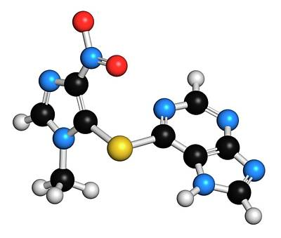 Multiple Sclerosis Photograph - Azathioprine Immunosuppressive Drug by Molekuul