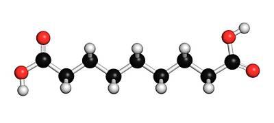 Azelaic Acid Nonanedioic Acid Molecule Art Print by Molekuul