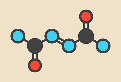 Azodicarbonamide Food Additive Molecule Print by Molekuul