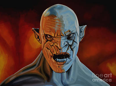 Hobbit Painting - Azog The Orc Painting by Paul Meijering