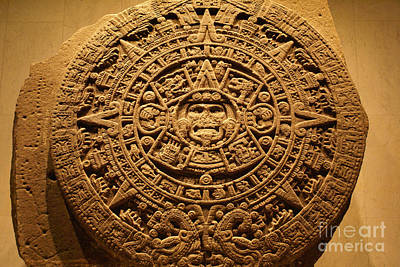 Photograph - Aztec Calendar Mexico by John  Mitchell