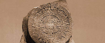 Aztec Drawing - Aztec Calendar Stone, City Of Mexico, Jackson, William by Litz Collection