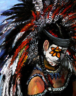 Painting - Aztec Celebration by Frank Botello