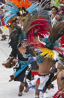 Photograph - Aztec Dance Troupe - Mexico by Craig Lovell