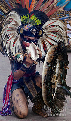 Photograph - Aztec Dancer - Cervantino Festival Mexico by Craig Lovell