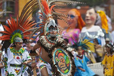 Photograph - Aztec Dancers - Independence Day Mexico by Craig Lovell