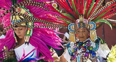 Photograph - Aztec Granmother Annd Daughter - Mexico by Craig Lovell