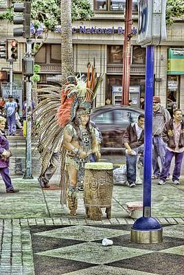 Editorial Mixed Media - Aztec In The City by Don Bendickson