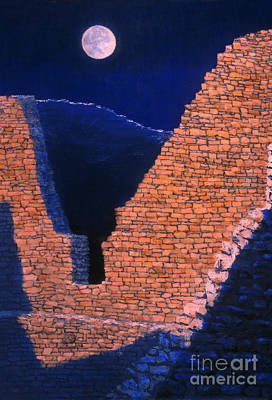 Anasazi Painting - Aztec Moon In Paint by Jerry McElroy