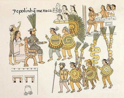 Aztec Surrender, Lienzo De Tlaxcala Art Print by British Library