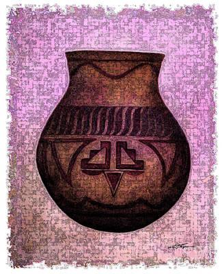 Aztec Pottery Painting - Aztec Vessel II by Joel Thompson