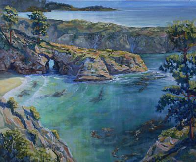 Azure Cove Art Print by Heather Coen