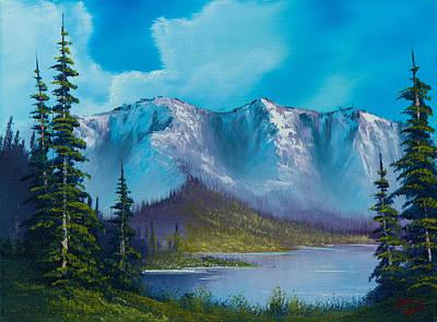 Bob Ross Style Painting - Azure Ridge by C Steele
