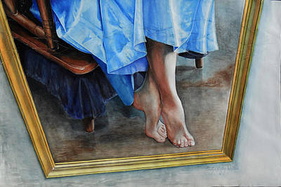 Painting - Through The Looking Glass- A Vision In Azure, Prelude To A Dance by Carolyn Coffey Wallace