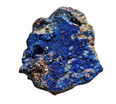 Photograph - Azurite Cobalt Blue Stone  by Valerie Garner