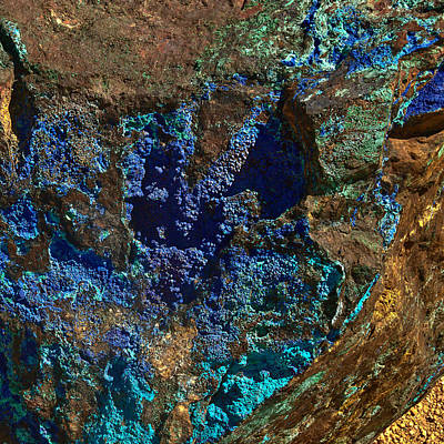 Photograph - Azurite by Bob and Nadine Johnston