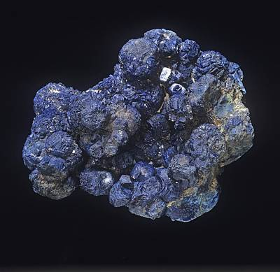 Azurite Art Print by Science Photo Library