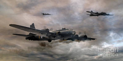 Ww11 Aircraft Photograph - B-17 Flying Fortress Almost Home   Version 2 by Steve H Clark Photography
