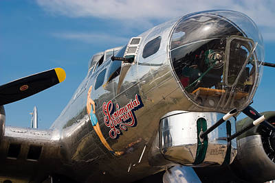 Airshow Flight Photograph - B-17 Flying Fortress by Adam Romanowicz