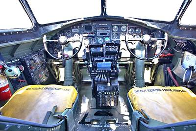 Photograph - B-17 Front Office by Gordon Elwell