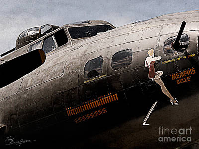 Photograph - B-17 Memphis Belle Nose Art by Tom Brickhouse