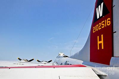 Photograph - B-17 Rear View by John Waclo